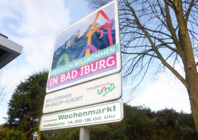 Schild Bad Iburg