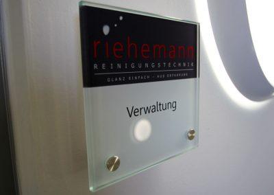 Türschild Riehemann